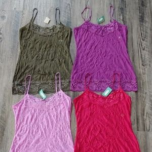 Maurices Lot of 4 Camisole Tank Tops Sz Small NWT